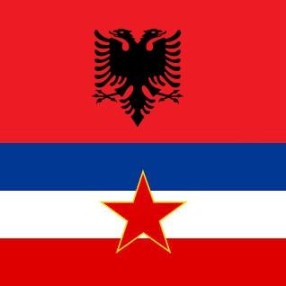 Albanian & Yugoslavian Flags