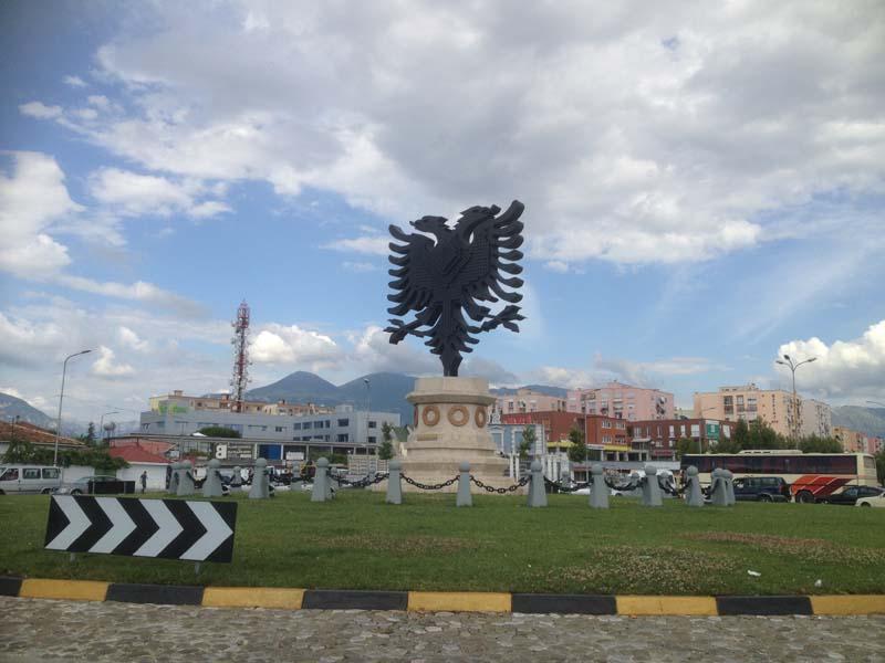 Tirana main roundabout