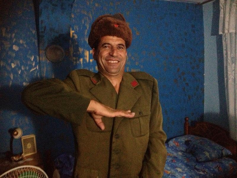 Tirana - Asim salutes Communist style :)