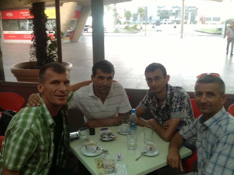 Tirana Airport - Adem, Asim, Jurgen and Halim
